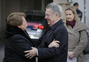 Staatsbesuch Michelle Bachelet, Heinz Fischer, Dolmetscherin Dagmar Jenner